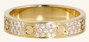 Cartier LOVE Rings - The Perfect Gift To Express Your Love. Custom made by Sapna Jewels.