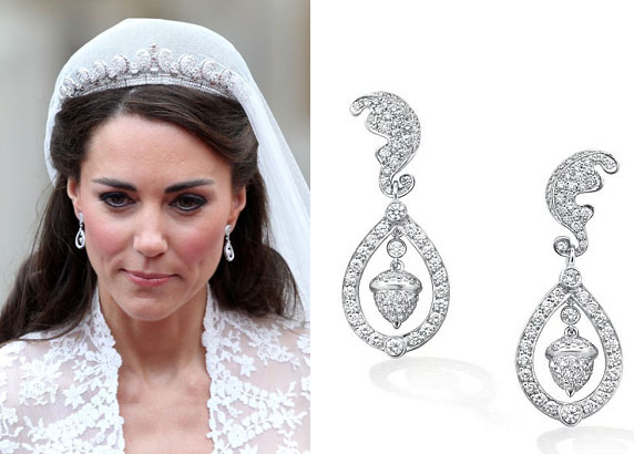 Diamond Jewellery By Sapna Jewels Kate Middleton S Earrings From The Royal Wedding